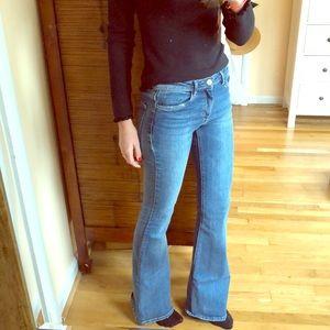ZARA Wide leg flare jeans size 4